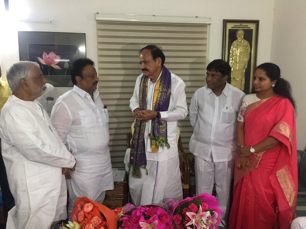 TRS Party will support Venkaiah Naidu